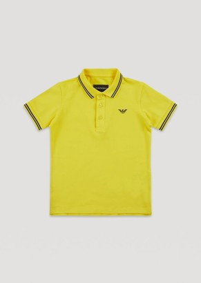 Emporio Armani Short-Sleeved Polo Shirt With Embroidered Logo