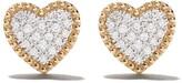 As 29 As29 18kt yellow gold Mye heart beading pave diamond earrings