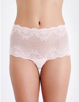 Mimi Holliday Sugared almond lace and mesh corset briefs
