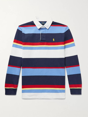 Polo Ralph Lauren Logo-Embroidered Striped Cotton-Jersey Polo Shirt