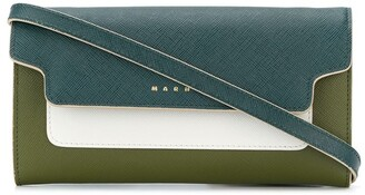 Marni two tone wallet clutch
