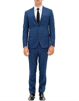 Pal Zileri 2B Sb Sv Fl Pkt Notch Lapel Wl Large Check Suit