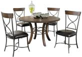 Hillsdale Furniture Cameron Wood Round Dining Set with X-back Chairs