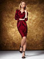 New York & Co. Flocked Sheath Dress