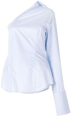 ANNA QUAN Evie striped deconstructed shirt