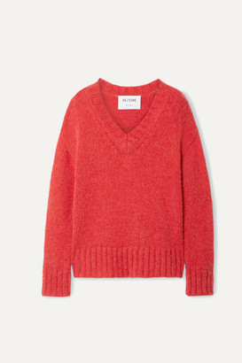 RE/DONE 90s Oversized Knitted Sweater - Red