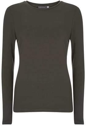Mint Velvet Khaki Long Sleeved T-Shirt