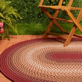Epes Handmade Braided Red Indoor / Outdoor Area Rug August Grove Rug Size: Round 10'