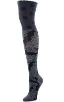 Natori Floral Crest Over The Knee Socks