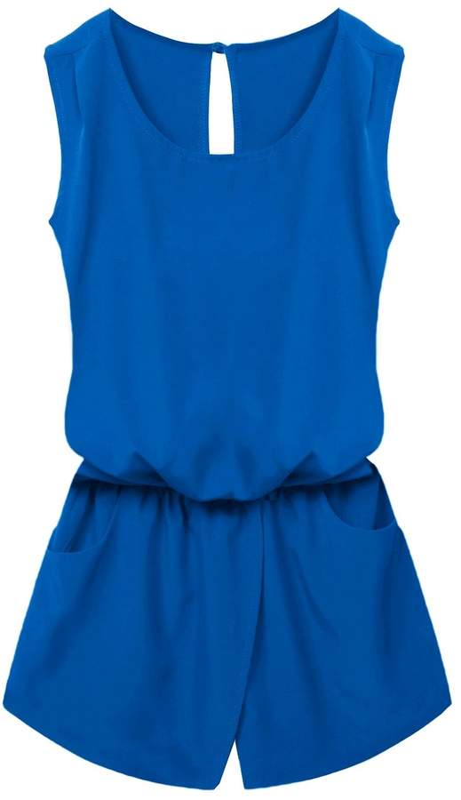 ACEVOG Sleeveless Backless Romper Playsuit Jumpsuit for Women