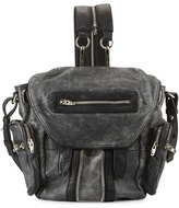 Alexander Wang Mini Marti Crackled Lambskin Backpack, Black/White