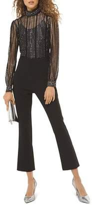 MICHAEL Michael Kors Metallic-Dot Embellished Lace Jumpsuit