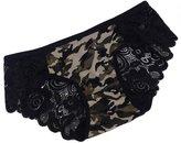 Legou Women's Low-waisted Flower Pattern Transparent Nightwear Underpants