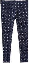 Joe Fresh Kid Girls' Polka Dot Legging, Navy (Size XL)