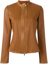 Desa 1972 - zip up jacket - women - Leather/Polyester/Spandex/Elastane - 38