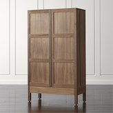 Crate & Barrel Victuals Walnut Bar Cabinet