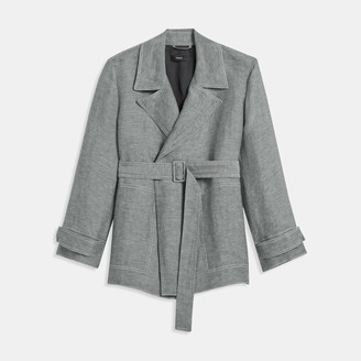 Theory Linen Twill Short Trench