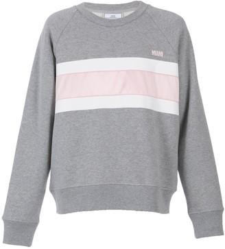 Grey And Pink Crew-neck Sweatshirt