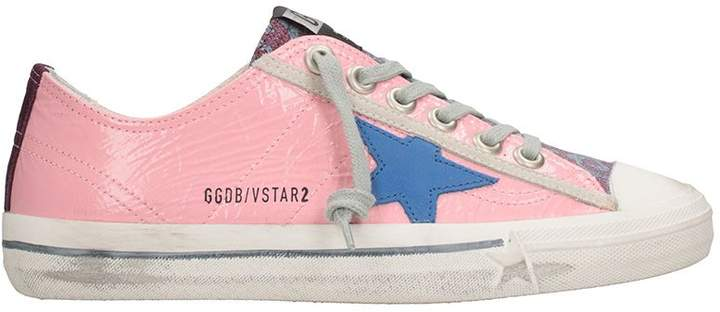 Golden Goose Vstar Pink Leather Snaekers