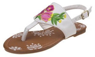 Josmo Forever Flower T-Strap Sandals (Little Girls & Big Girls)