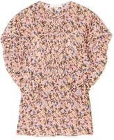 Chloé Pintucked Floral-print Crepe Blouse - Pink