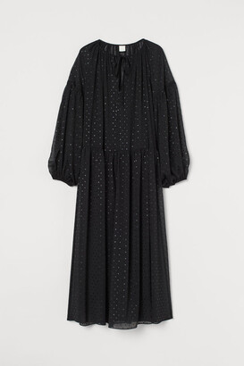 H&M Long Chiffon Dress - Black