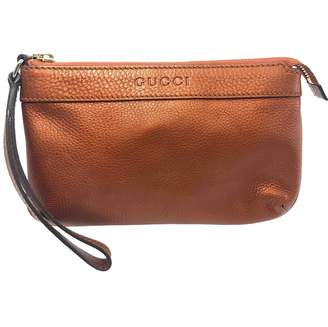 Gucci \N Orange Leather Clutch bags