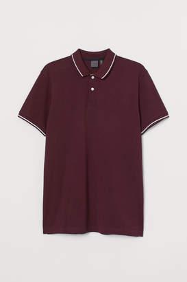 H&M Premium Cotton Polo Shirt - Red
