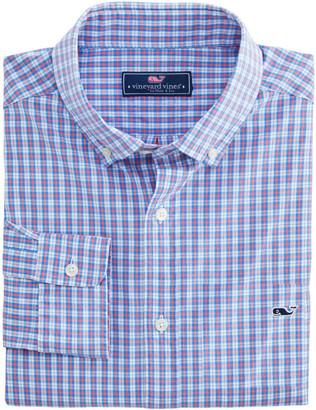 Vineyard Vines OUTLET Men's Mini Tartan Poplin Slim Whale Shirt