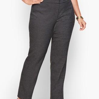 Talbots Plus Size Stretch Houndstooth Tweed Straight Leg Pants