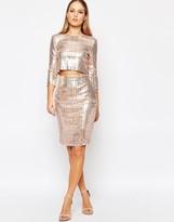 TFNC All Over Sequin Midi Skirt