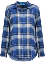 MiH Jeans Flight Pleated Checked Flannel Shirt