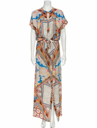 Matthew Williamson Silk Long Dress Grey
