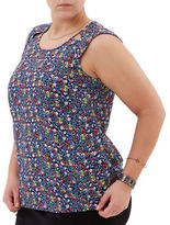 Junarose Ditsy Floral Knit Top