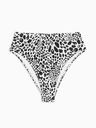 Topshop Animal Spot High Waist Bikini Pants - Mono