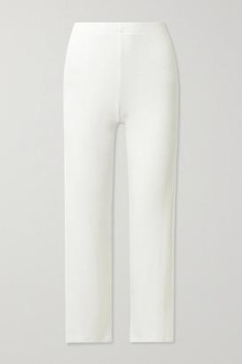 Leset Lori Brushed Stretch-jersey Wide-leg Pants - White
