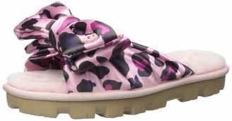 UGG Women's LUSHETTE Leopard Puffer Flat Sandal