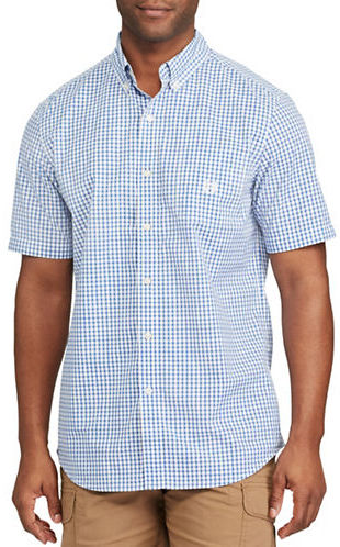 Chaps Big and Tall Short-Sleeve Gingham Sport Shirt