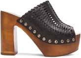 Sigerson Morrison Leather Queen Heels