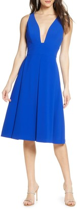 Harlyn Pleat Fit & Flare Dress