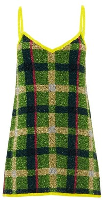 Ashish Sequinned Check Mini Dress - Multi