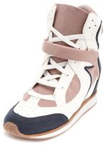 Charlotte Russe Lace-Up Color Block Wedge Sneaker