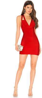 superdown Larsa Deep V Bodycon Dress