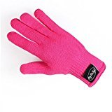 MYSWEETY Professional Heat Resistant Glove for Hair Styling Heat Blocking for Curling, Flat Iron and Curling Wand 1pcs(Hot Pink)