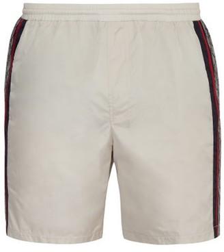 Gucci GG Print Nylon Swim Shorts - Mens - White Multi
