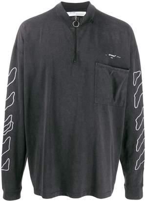 Off-White zipped collar Diag sweatshirt