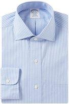 Brooks Brothers Non-Iron Regent Fit Spread-Collar Windowpane Dress Shirt