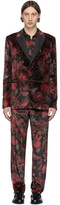 Paul Smith Red and Black Floral Goliath Suit