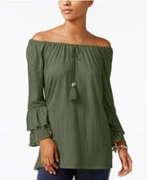 Style&Co. Style & Co Off-The-Shoulder Crinkle Top, Created for Macy's