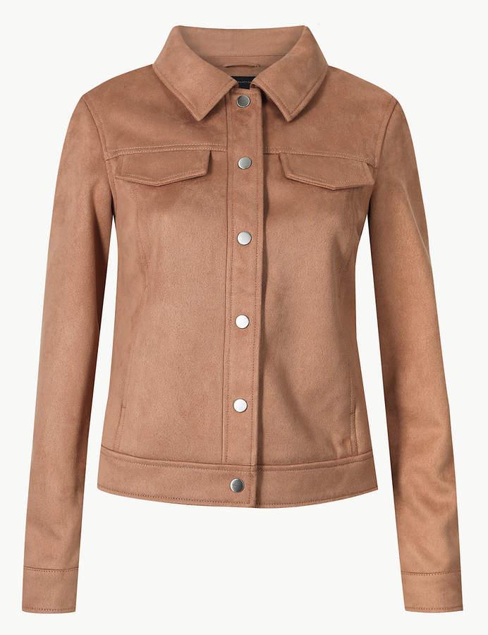 55ef7111aaf4bb Plus Size Suede Shirt - ShopStyle